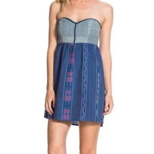 Roxy Strapless Woven Tube Dress/Beach Cover -S